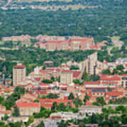 Aerial View Of The Beautiful University Of Colorado Boulder Art Print