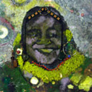 African Bead Painting Art Print