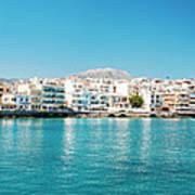 Agios Nikolaos Panorama Art Print