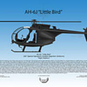 Ah-6j Little Bird Art Print