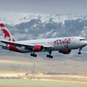 Air Canada Rouge Boeing 767-333 Art Print