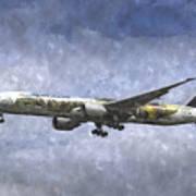 Air New Zealand Hobbit Boeing 777 Art Art Print