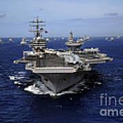 Aircraft Carrier Uss Ronald Reagan Art Print
