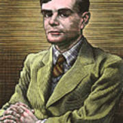 Alan Turing, British Mathematician Art Print by Bill Sanderson