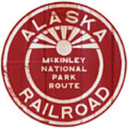 Alaska Railroad Aged Art Print