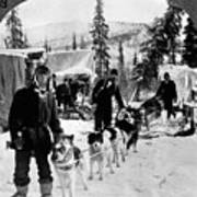Alaskan Dog Sled, C1900 Art Print