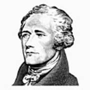 Alexander Hamilton - Founding Father Graphic  Art Print