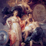 Allegory Of The City Of Madrid Art Print