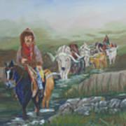 Along The Bozeman Trail Art Print