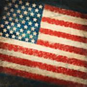 America Flag Art Print by Setsiri Silapasuwanchai