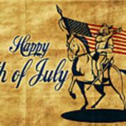 American Cavalry Soldier Art Print