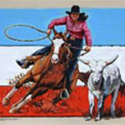 American Cowgirl Art Print