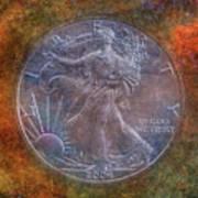 American Silver Eagle Dollar Art Print