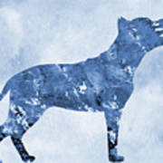 Amstaff-blue Art Print