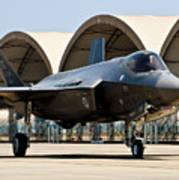 An F-35 Lightning II Taxiing At Eglin Art Print