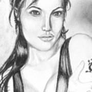 Angelina Jolie Portrait Art Print