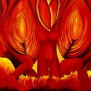Angels Of Fire Art Print
