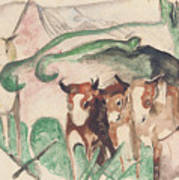 Animals In A Landscape Art Print