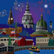 Annapolis Holiday Art Print