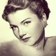 Anne Baxter, Vintage Actress Art Print