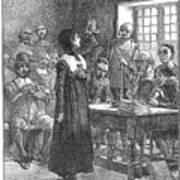 Anne Hutchinson (1591-1643) Art Print