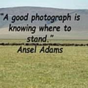 Ansel Adams Quote Art Print
