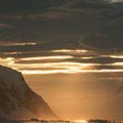 Antarctic Sunset Art Print