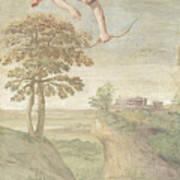 Apollo Slaying Coronis Art Print