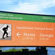 Appalachian National Scenic Trail Art Print