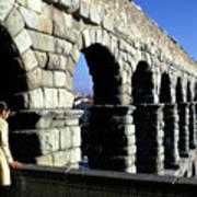 Aquaduct In Lisbon Art Print