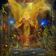 Archangel Michael-angel Tarot Card Art Print by Steve Roberts