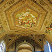 Architectural Artistry Within The Vatican Museum In The Vatican City Art Print