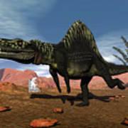 Arizonasaurus Dinosaur - 3d Render Art Print
