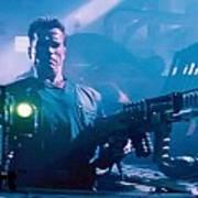 Arnold Schwarzenegger Firing Dual Em-1 Railguns Eraser 1996 Art Print