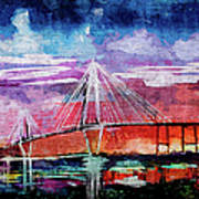 Arthur Ravenel Jr Bridge Charleston Art Print