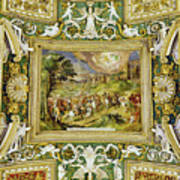 Artistic Ceilings Within The Vatican Museums In The Vatican City Art Print