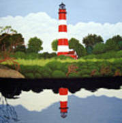 Assateague Island Lighthouse Art Print