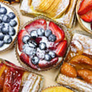 Assorted Tarts And Pastries Art Print