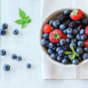 Assortment Of Berries Art Print