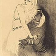 "At The Renaissance: Sarah Bernhardt In ""phedre"" (a La Renaissance: Sarah Bernhardt Dans ""ph?dre"") Art Print"