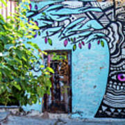 Athens Graffiti Art Print