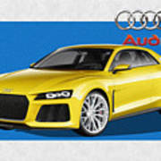 Audi Sport Quattro Concept With 3 D Badge  Art Print