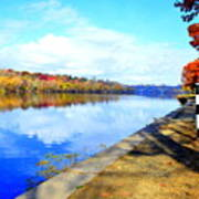 Autumn Afternoon On The Schuykill River Art Print