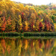 Autumn Big Ditch Lake Art Print