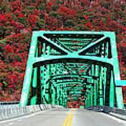 Autumn Bridge Art Print
