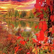 Autumn Garlands Art Print