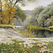 Autumn Landscape In The Vicinity Of Eshar Art Print