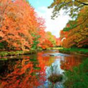 Autumn On The Mersey River, Kejimkujik National Park, Nova Scotia, Canada Art Print