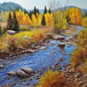 Autumn On The Truckee Art Print