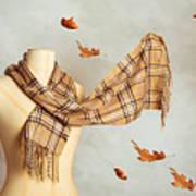Autumn Scarf Art Print
